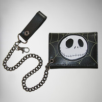 Nightmare Before Christmas Jack Web Glow Chain Wallet