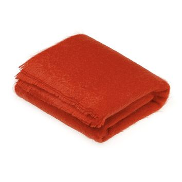 Luxury Mohair Throw Blanket Flame