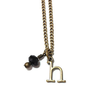 H Is for Hufflepuff Charm Necklace