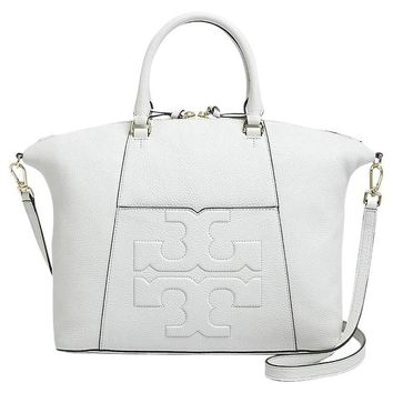 Tory Burch Bombe T Medium Slouchy Leather Satchel Bag Women's Handbag