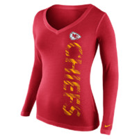 Nike Warpspeed Mid-V Long-Sleeve (NFL Chiefs) Women's T-Shirt