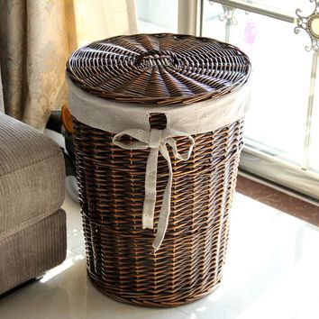 Laundry basket, rattan storage box, large laundry basket