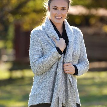 Happiness Is Heathered Cardigan
