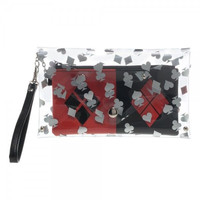 DC Comics Harley Quinn Clear Envelope Wallet with Wristlet