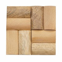 Wooden Coasters, Set of 6
