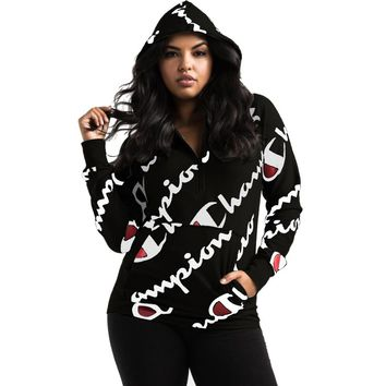 Champion 2018 3 COLORS  Printed Women Full Sleeve Hoodies Sweatshirts blouse overall Pullover Loose Outwear S3260
