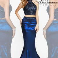 Navy Mermaid Milano Formals Dress E1923