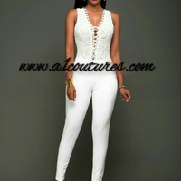 Fayth Lace Top Jumpsuit