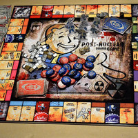 Amazing incredible fallout monopoly handmade game