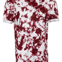 Wine Printed Low Roll T-Shirt - Men's T-shirts & Tanks - Clothing - TOPMAN USA