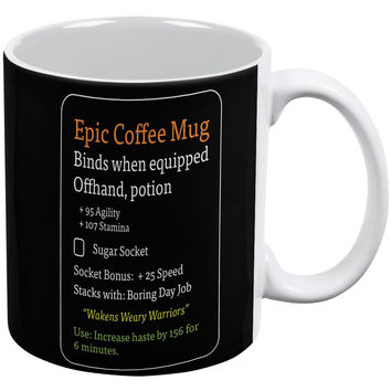 RPG Epic Mug White-Black All Over Coffee Mug