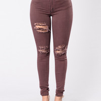 Frontin Jeans - Burgundy
