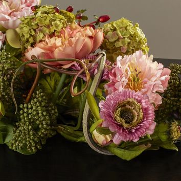 Silk Flower Mixed Peony Centerpiece