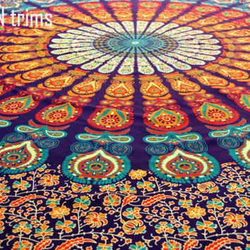 Large Buddhist Mandala Tapestry Hippie Hippy Wall Hanging Throw Bedspread Dorm Tapestry Decorative Wall Hanging Picnic Beach Sheet Coverlet