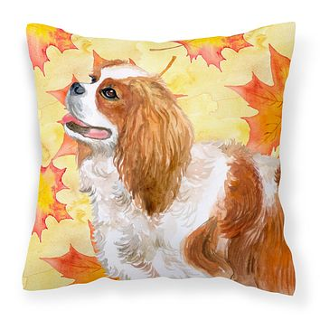 Cavalier Spaniel Fall Fabric Decorative Pillow BB9924PW1818