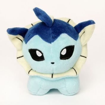 "Pokemon Center Vaporeon 6"" Inch Poké Plush Figure Doll"