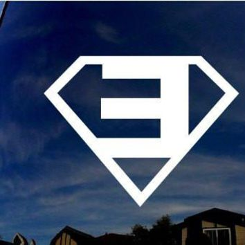 Eminem Superman CRIS Music Rapper Music Adhesive Decal Sticker Vinyl Decorative for Wall Car Auto Ipad Macbook Laptop