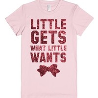 Little Gets What Little Wants (Sparkle)-Female Light Pink T-Shirt