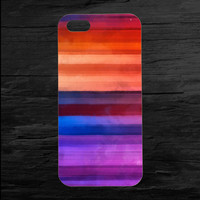 Rainbow Watercolors iPhone 4/4s and iPhone 5 Case
