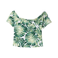 G.V.G.V. Printed Off Shoulder Top