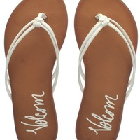 Volcom White Forever Womens Flip Flop | Volcom | FreestyleXtreme Canada