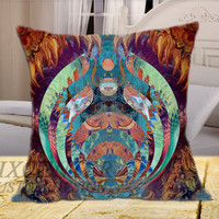 Bassnectar Dragon on Square Pillow Cover