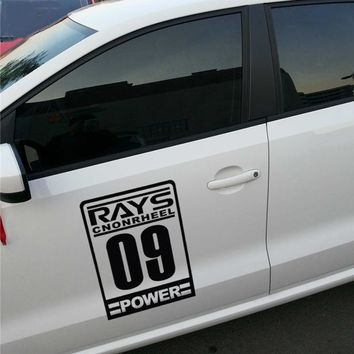 RAYS POWER WTCC style racing car sticker,DIY automobile side door decor stickers and decals styling for peugeot/bmw e39/mercedes