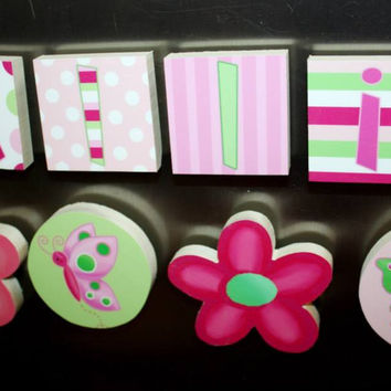Lilac Flowers Girls Name Magnets Fridge Bedroom Magnets NM0008