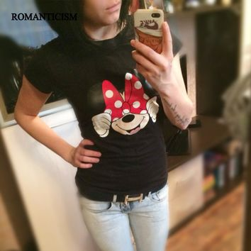 Minnie Mouse Hiding Women Print Tee