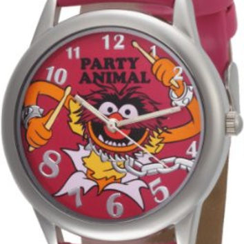 Muppets Women's MU1009 Animal Dial Fuschia Strap Watch