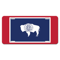 Wyoming State Flag Novelty License Plate