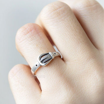 Belt Ring in sterling silver