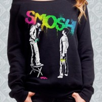 Graffiti Rainbow Off-the-Shoulder Sweatshirt Girl - Smosh Girls - Official  Online Store on District Lines
