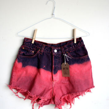 Waist 29 High Waisted Levi Shorts by thedaisies on Etsy