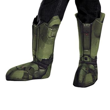 Halo 3 Master Chief Boot Covers Costume - Kids (Grey)
