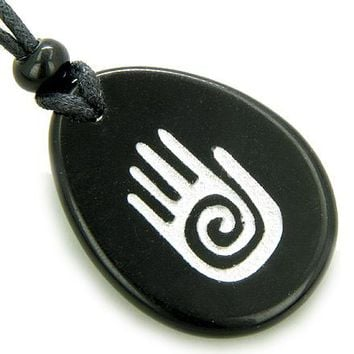 Infinity Protection Hand Spiritual Amulet Good Luck Necklace