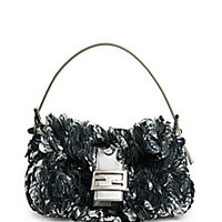 Fendi - Baguette Paillette-Embellished Leather Shoulder Bag - Saks Fifth Avenue Mobile