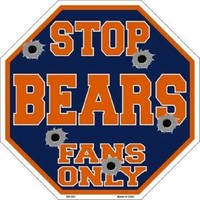 NEW Officially Licensed NFL Chicago Bears Stop Sign Fan Decor Man Cave Football