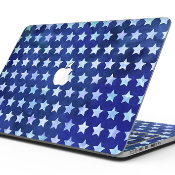 Blue Watercolor Stars - MacBook Pro with Retina Display Full-Coverage Skin Kit