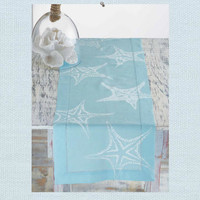 Seaside Inspired | Beach Decor | starfish table runner from SeasideInspired.com.