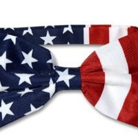 American Flag Men's Bow Tie USA Patriotic BOWTIE