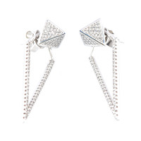 Gina Cueto | Iris Silver Earrings
