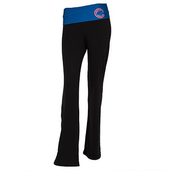 Chicago Cubs - Flip Down Waistband Logo Juniors Yoga Pants