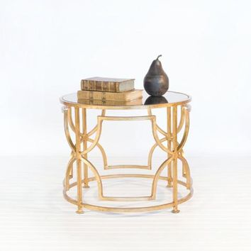 Worlds Away Tess Gold Leaf Cocktail Table