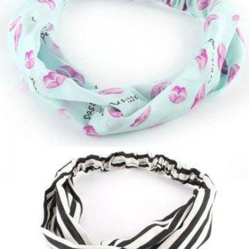 Vintage Style Hair Band - 3 Prints