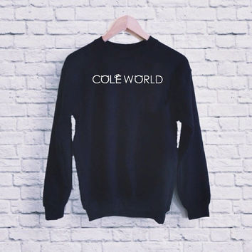 Cole World UNISEX SWEATSHIRT heppy fit & sizing