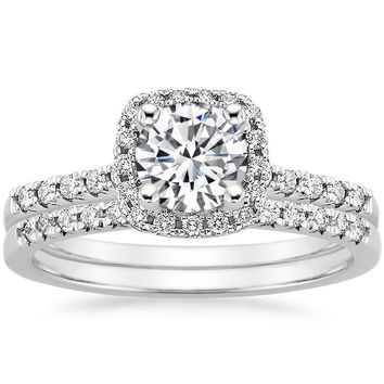 18K White Gold Odessa Diamond Ring (1/5 ct. tw.)