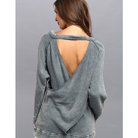 Free People Heavyweight Twisted Back Dusty Blue - Zappos.com Free Shipping BOTH Ways