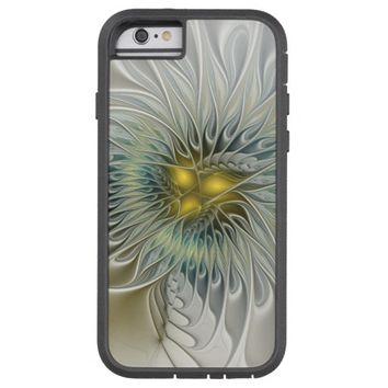Golden Flower Fantasy, abstract Fractal Art Tough Xtreme iPhone 6 Case