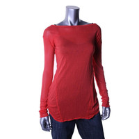 Fluxus Womens Knit Seamed Tunic Top